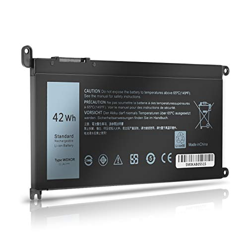 WDXOR 42Wh Laptop Battery Replace for Dell Inspiron 17 5765 5767 5770 15 5565 5567 5568 5578 7560 7570 7579 7569 13 5368 5378 7368 7378 Series Notebook