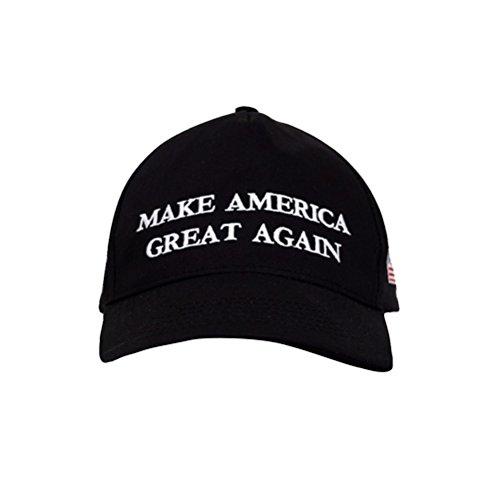 TrendyLuz Make America Great Again Donald Trump MAGA Baseball Cap Hat (Black Flag Classic)