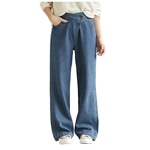 nobranded Personalisierte Sommerjeans mit weitem Bein Japanische Jeans mit lockerer, hoher Taille und wild drapierter, gerader Hose