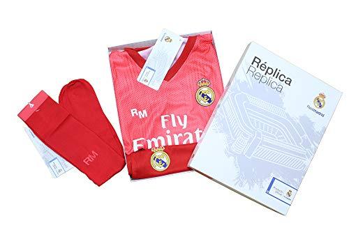 Conjunto Complet Infantil Real Madrid Réplica Oficial Licenciado de la Tercera Equipación Temporada 2018-19 Sin Dorsal (14 años)