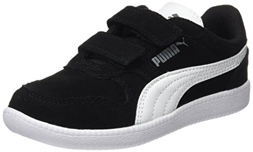 PUMA Unisex-Kinder Icra Trainer SD V PS Sneaker, Schwarz Black White, 35 EU