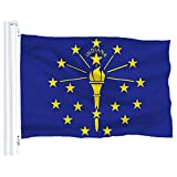 DFLIVE Indiana State Flag Banner 3Ft x 5Ft Polyester Printed with Grommets