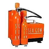 SEAGOW Kompressor Minicomp 220 V Erwachsene, Unisex, Orange, Mini