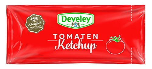 Develey Tomaten Ketchup Portionsbeutel, 100er Pack (100 x 20 ml)
