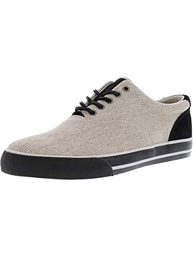 Polo Ralph Lauren Men's Vaughn-Sk-VLC Open Weave Cotton Grey Fashion Sneaker - 8M
