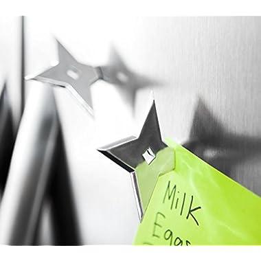 Bullseye Office - Ninja Star Magnets - Cool Fridge Magnets, Whiteboard Magnets, Office Magnets, Funny Refrigerator Magnets, Fun Magnets (Pack of 4)