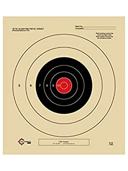 25 Yard Slow Fire Pistol Target Official NRA Target B-16  Red 100