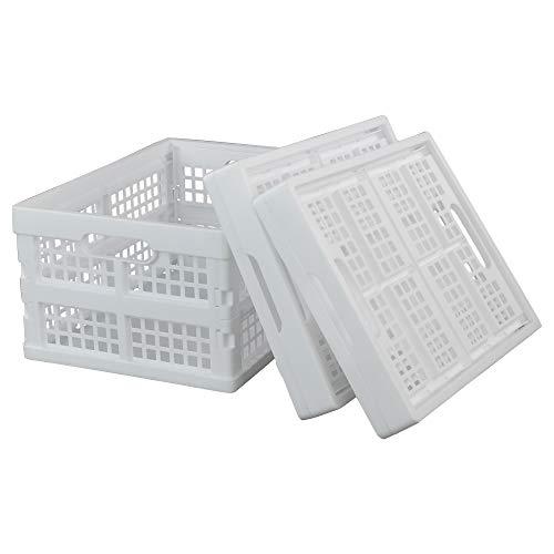 Hokky Klappboxen Faltbar zur Aufbewahrung, 3-Pack White faltkiste