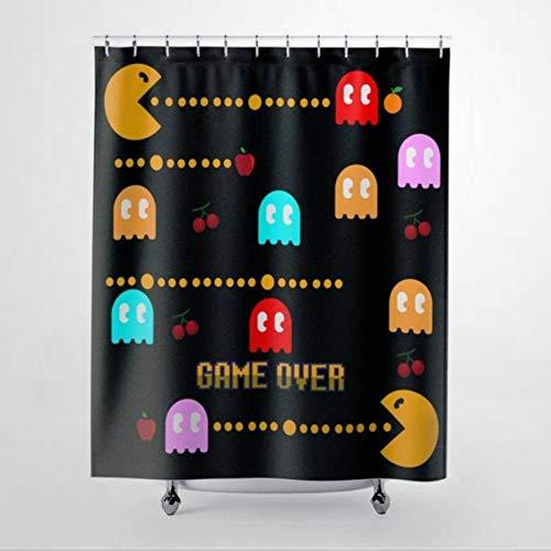 DONL9BAUER cortina de baño para videojuegos cortina de ducha juego sobre impermeable bañera decoración con anillo colectando gancho para baño cocina decoración del hogar 150 x 180 cm