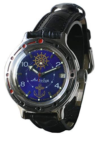 Subaqueo - Reloj de pulsera 'Vostro Amplia', producción rusa con 18 rubíes, profundidad de inmersión de hasta 200 metros – Timón y ancla