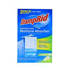 DampRid Hanging Bag Moisture Absorber attracts and traps excess moisture from the air By trapping excess moisture, these bags eliminate musty odors creating fresher, cleaner air The hanging bag design is ideal for closets, storage cabinets, the kitch...