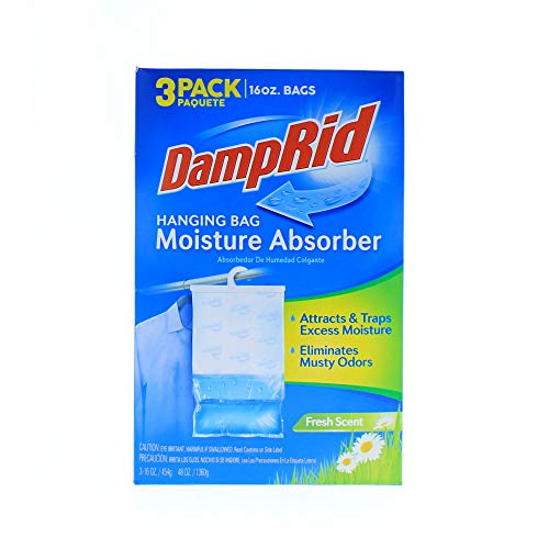 DampRid Moisture Absorber, Fresh Scent( 1 pack of 3)