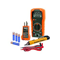 Klein Tools 69149 Electrical Test Kit with Multimeter, Non-Contact Voltage Tester and Receptacle Outlet Tester. Premium Pack