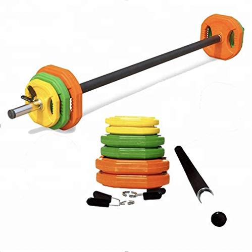 20kg Professional Adjustable Body Pump Barbell Weight Set Strength Training Bodybuilding Home Gym