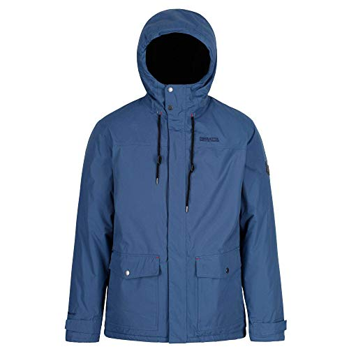 Regatta Herren Syrus Waterproof Insulated Hooded Jacke, Dunkles Jeansblau, M