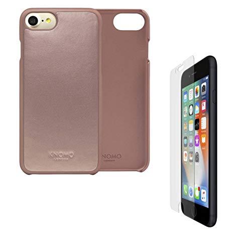 Knomo - Custodia in pelle per iPhone 6s/7/8/SE2020, per iPhone SE2020, 8/7/6s, 2 pezzi, con pellicola protettiva in vetro Belkin per iPhone 6s/7/8/SE2020