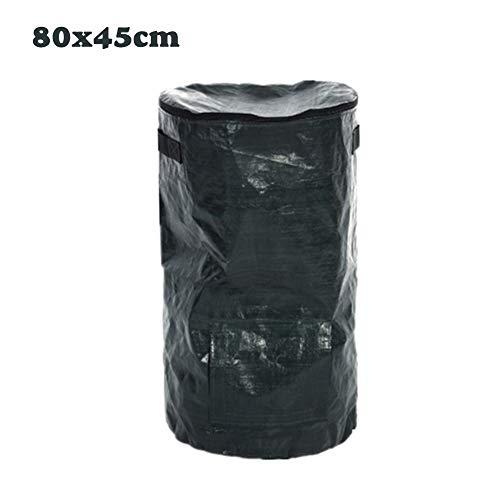 Best Price INFILM Collapsible Zipper Organic Waste Compostable Bag, Garden Kitchen Lawn Yard Compost...