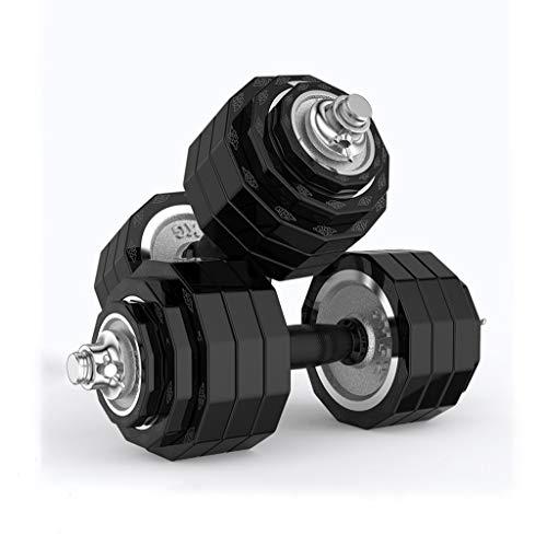 WYH Pesas Pesas Pesas Barra Conjunto Equipamiento de Hogar for Hombres Y Mujeres Gimnasio Trabajar El Ejercicio de Formación Incluye La Biela Musculación (Peso : 40Kg(20Kg*2))