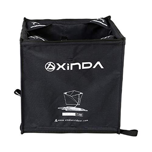 MagiDeal Cube Panier de Rangement Sac Pliage pour Cordelette de Jet Corde Escalade Arboriculteur Grimpeur - Noir, 40 * 40 * 40CM