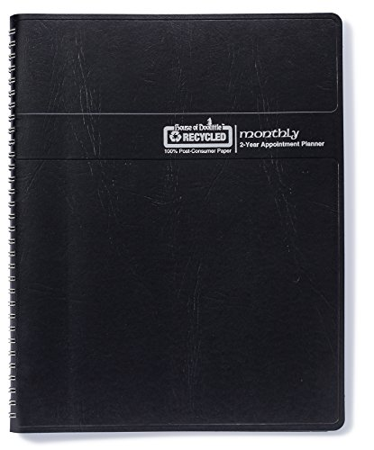 House of Doolittle 2020-2021 Two Year Calendar Planner, Monthly, Black Cover, 8.5 x 11 Inches, January - December (HOD262002-20) Doolittle Professional Weekly Planner