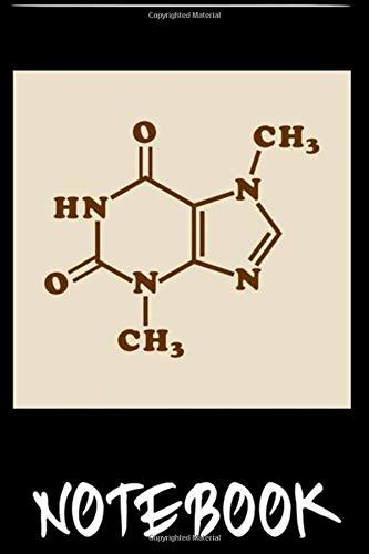 Notebook: Chocolate Theobromine Molecular Chemical Formula T-Shirt 6x9 inch by Labana Quado