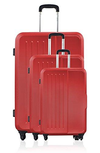 GEORGES RECH Juego de maletas, rojo (Rojo) - BD-1087