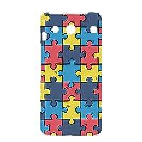 FFANY BASIO (KYV32) 用 ハードケース スマホケース パズル柄・カラフル おもしろ ゲーム パロディ 京セラ ベイシオ au スマホカバー 携帯ケース 携帯カバー puzzle_aao_h190731