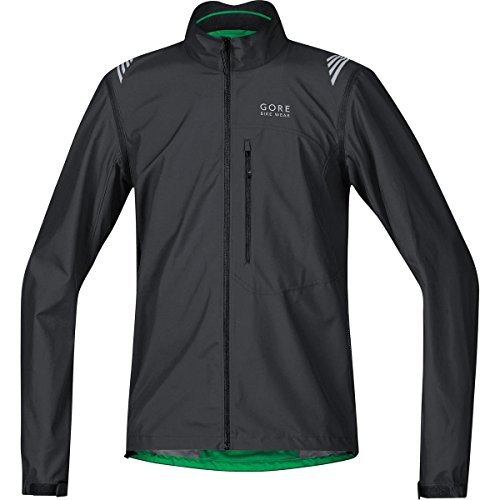 GORE BIKE WEAR 2 in 1 Herren Fahrradjacke, Super Leicht, Kompakt, GORE WINDSTOPPER, ELEMENT WS AS Zip-Off Jacket, Größe: S, Schwarz, JELECO