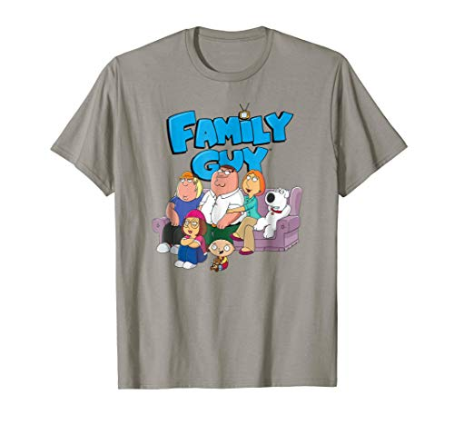 Family Guy Group with Logo No Distress T-shirt