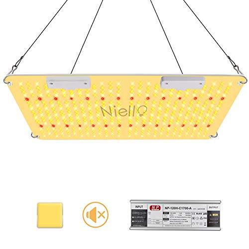 Lámpara para plantas, Últimas 2000W Grow Light con IR, High PPFD Sunlike Full Spectrum lámparas LED de cultivo para interiores Veg and Bloom, lámparas para el cultivo cubrir 120 x 120cm