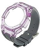 XCXFCA GA2100 - Correa de accesorios modificados para 3er GA-2100 Gen3 transparente y correa de goma para Casio G-Shock GA2100 (color de la correa: naranja Tran, ancho de banda: para GA2100)