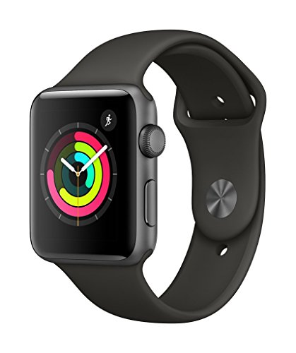 Apple Watch Series 3 GPS 42mm Smart Watch (Space Grey Aluminum Case, Grey Sport Band)