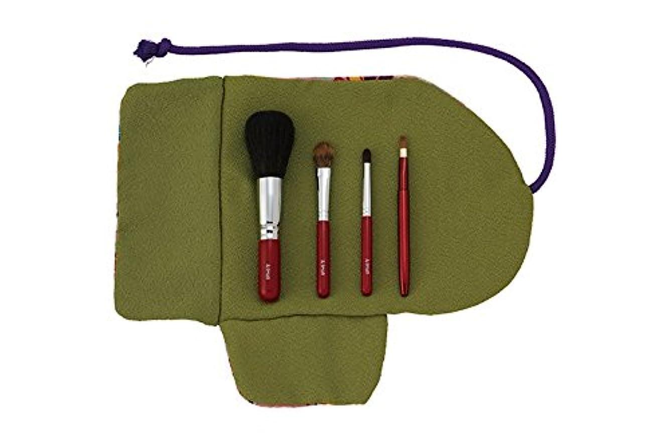 トリクル試験詩熊野筆 Ai brush WA-4A/和風化粧筆セット