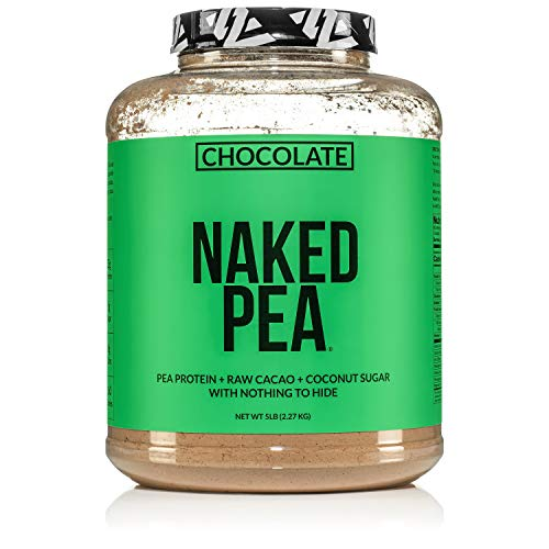 NAKED Pea - Chocolate Pea Protein - Pea Protein Isolate from North American Farms - 5lb Bulk, Plant Based, Vegetarian & Vegan Protein. Easy to Digest, Non-GMO, Gluten Free, Lactose Free, Soy Free