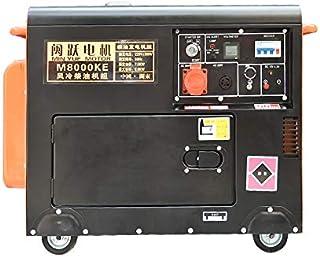 QWERTOUY Pantalla pequeña Mute Digital de generador Diesel 8000W Individual/trifásica de 220V / 380V, 50 Hz, 420cc, 16L, s...