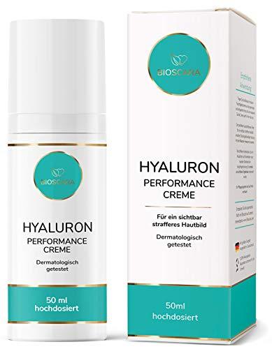 NEU: Bioscara Hyaluron Anti Falten Creme 50ml Extra hochdosiert I Hyaluronsäure Feuchtigkeits Creme...