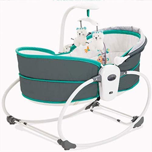 Yingeryaoyi Schaukel Spielzeug Multifunktionale Baby-Schaukelstuhl Shaker, Musik Bequemt Vibration tragbares bewegliches Bett, Grün Schaukel Spielzeug
