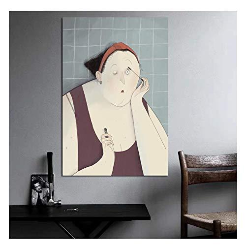 AZTeam Giulia Pintus Künstlerin Frau Make-Up Poster Bilder Moderne Wandkunst Leinwand Malerei Einzigartiges Geschenk Für Die Inneneinrichtung Artwork-50X70Cm No Frame