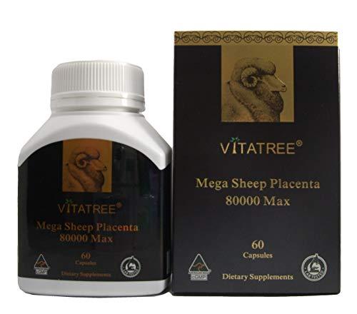 VitaTree Mega Sheep Placenta 80000 Max 60 Capsules Made in Australia