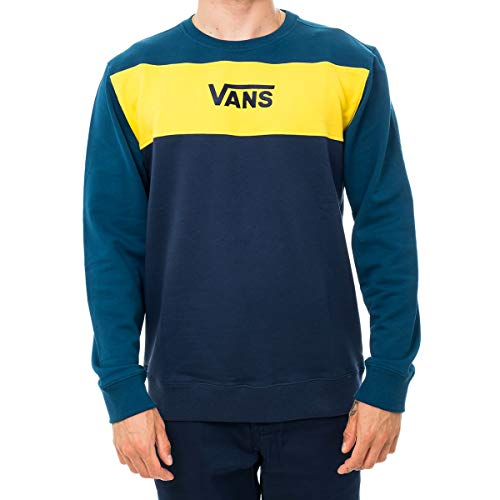 Vans Felpa UOMO MN Retro Active Crew VN0A45AQTOH (L - Gibraltar Sea-Dress Blue)