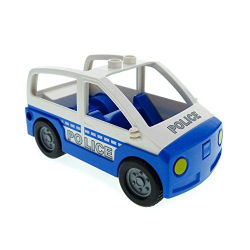 1 x Lego Duplo Auto blau weiß Polizei Polizeistreife Wagen Van Police für Set 4965 5681 4354c03pb01