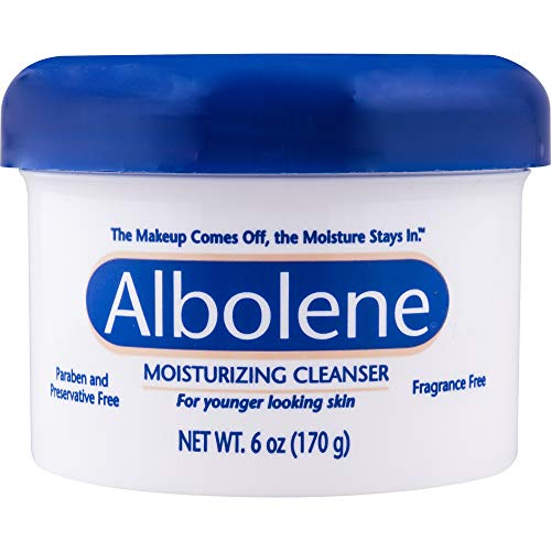 Albolene Moisturizing Cleanser - 3-in-1 Skin Care Product: Makeup Remover, Facial Cleanser and Moisturizer - No Soap or Water Needed - 6 Ounces - Pack of 1