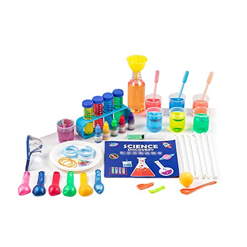 Kinder Science Experiment Kit für Kinder 8-12, Wissenschaftler Kostüm Dress Up und Rollenspiel DIY mit Labormantel Pädagogische Kinderwissenschaftler Kostüm Geschenk Spielzeug für Alter 5 6 7 8 9 10