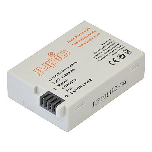 Jupio CCA0019 Kamera Akku für EOS 550D/EOS 550 D/EOS 600D