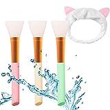 Ealicere 3PCS Pennello Maschera in Silicone Maschera Strumento di Bellezza Morbido pennelli per applicare facciale per Occhi Viso Labbro Corpo e Maschera a DIY