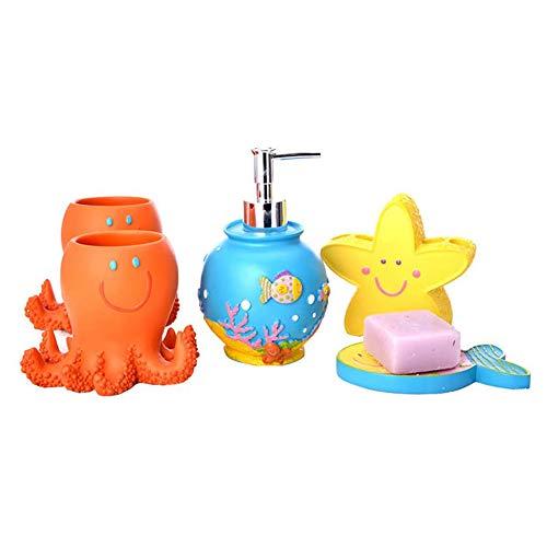 Zuoao Bagno Semplice Cinque Pezzi Bagno Forniture Bagno creativi della Famiglia,5 Piece Set