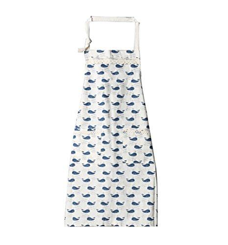 Da.Wa Baumwoll Leinen Damen Schürze mit Tow Convenient Pocket/Durable Küche und Kochschürze/Chef Schürze für Kochen, Grill und Backen