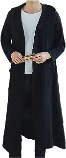 [アスペルシオ] フード付き ロング丈 コーディガン ニット パーカー 薄手 メンズ