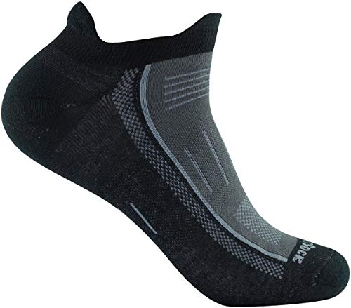 Wrightsock Profi Sportsocke Sneakers Low Tab -anti-blasen-system- in schwarz-ash - Socken Größe M