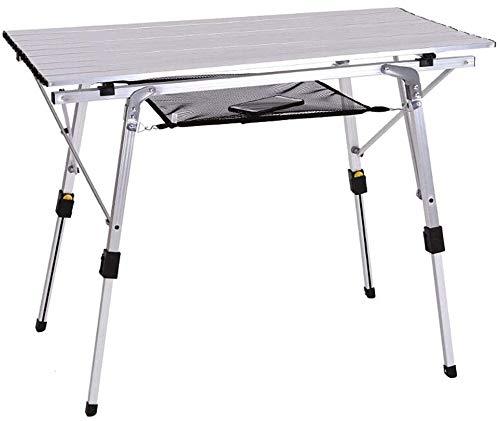 Tabla de la barbacoa Super Light Tabla Temporal para Home Garden Altura de mesa al aire libre Ajustable con cabinas de pies antideslizantes Se pueden configurar la mesa de comedor de aluminio Tour de